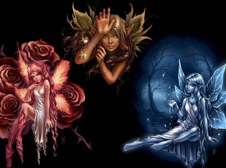 Element Faeries - fae, faeries, fairy, abstract, art, fantasy, elements