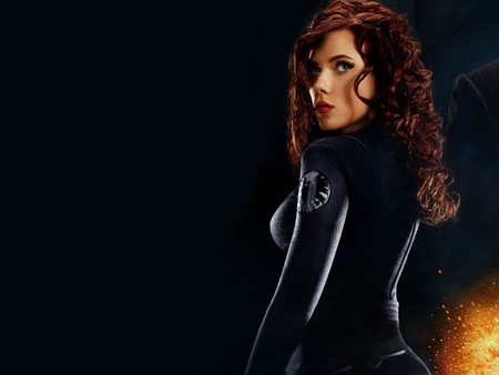 Black Widow - Scarlett Johansson - actress, female, movie, iron man