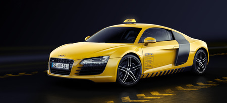 Yellow Taxi Audi Cars Background Wallpapers On Desktop Nexus