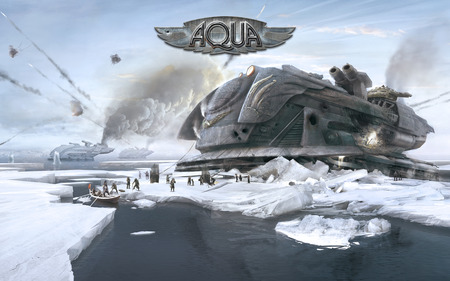 Aqua - naval, warfare, action, aqua, shooter, stylish, steampunk, xbla