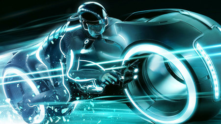 Tron Legency - tron, movie, motorcycle, game, speed