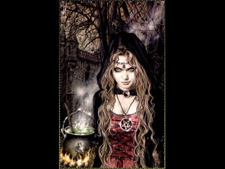 Witch Celebration - sorceress, dark, celebration, dark art, witch celebration, victoria frances, witch, ritual
