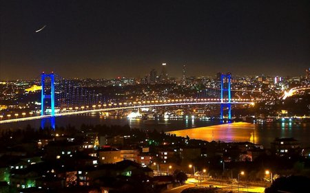 istanbul turkey bosphorus bridge - architecture, bridges
