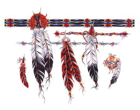 Native Feathers - abstract, native american, other, feathers