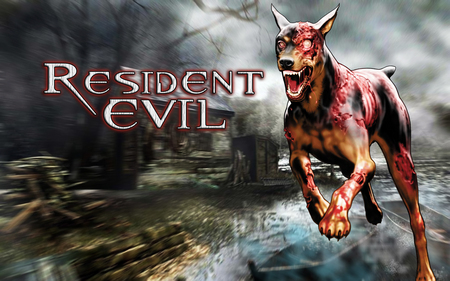 A zombie doberman has spotted you - cerberus wallpaper, resident evil dog, cerberus, doberman, zombie dog, resident evil