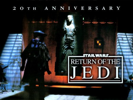 Return of the Jedi: 20th annivesary - knights, star wars, family entertainment, battles, aliens, movies, cinema, space film, empire, return of the jedi, fantasy, good vs evil, adventure, swords, luke skywalker, action, epic, fiction, darth vader