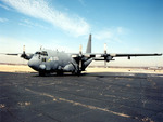 AC-130 on runway mat