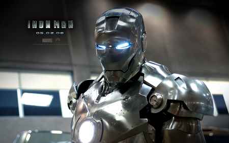 iron man 2 - robot, silver, movie, suit, man, iron