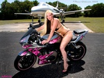 Hot babe n Bike