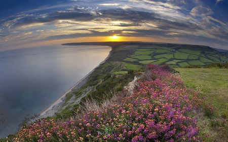 Amazing View - england, splendor, great britain, blue, pretty, beach, moorland, water, mirror, beaches, gold, corner, green, mounts, sunlight, golden, sundown, sea, peaceful, moor, heath, multicolor, pink, feild sky, view, landscape, flower, sunset, swell, white, grass, mountains, scene, grasslands, grau, field, sky, coast, sand, panorama, photography, dawn, trunks, nature, natural, sun, scenery, flowers, amazing, evening, orange, yellow, sunrises, nice, wawes, colours, trees, scenario, wallpaper, desktop, clouds, sunshine, plantations, fullscreen, fields, hills, ocean, cenario, reflections, cool, spring, reflected, beautiful, horizon, great, beauty, foam, sunsets, photoshop, photo, east anglia, day, declive, greenroofs, rays, colorful, colors, lovely, fell