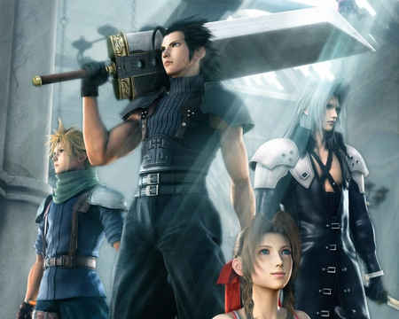 Final.Fantasy.VII.Crisis.Core - final fantasy vii, sephiroth, cloud, grey, aeris, crisis core, zack