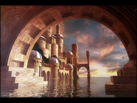 Arabian Dream - dream, dark, graphics, arabian