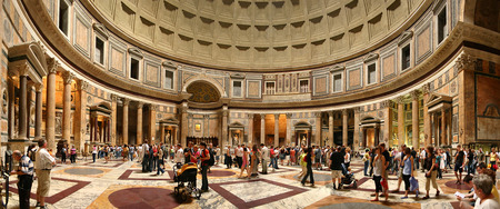Pantheon - insight, rome, italy, pantheon, panorama