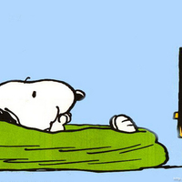 Snoopy Watching Dr.Oz