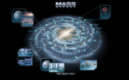 Mass Effect The Milky Way - map, star, galaxy, milky way, science fiction, space, mass effect, planet