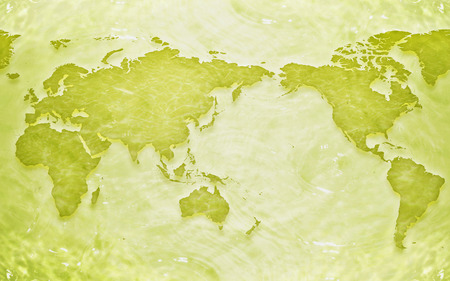 Map - green, beautiful, other, country, abstract, beauty, cities, map, clear, world, 3d, cg