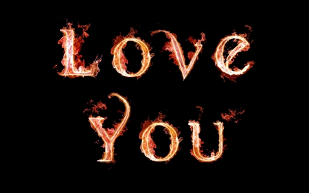 Love you - cool, love you, colored, letters, abstract, romantic, funny, flame, alphabet, valentines, love, red, valentines day, gift, black, colors, color, flames, valentine, fire, writing