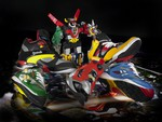 Voltron hiding behind sneakers