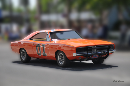General Lee - 01, dodge, orange, car