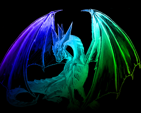 big rainbow dragon wallpaper - photo #29