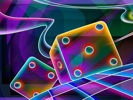 5 + 4   (colorful 3D) - trippy, quadrangle, colorful, cube, dice, squares, 3d and cg, 3d, neon, checked