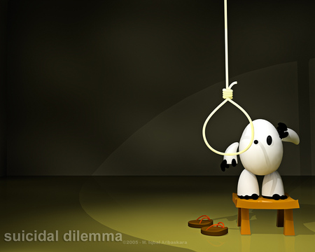 Suicidal dilema - table, suicide, question, black, christ, god, egg, stool, lords, jesus, noose, of, lord, death