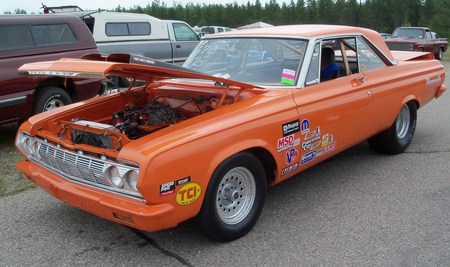 1964 Plymouth 426 Max Wedge Drag Car Plymouth Cars Background