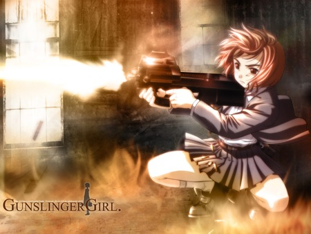 Gunslinger Girl Assault - girl, assault, cute, manga, killer, p90, anime, gunslinger girl