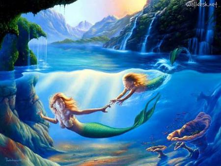 My Life Line Of Her Love - mermaid, mermaids, mother, love, her flesh, daughter