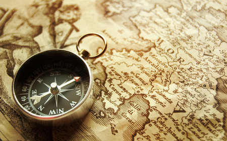 Compass. Map - abstract, map, photography, compass