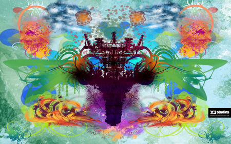 A little piece of .........My World - color, graffiti, pattern, design