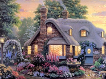 Peaceful Cottage Fantasy Amp Abstract Background