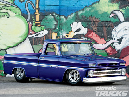 Sixty  Four - fat tires, pickup, gm, chevy