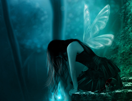 Ghost fairy - girl, fantasy, fairy, ghost
