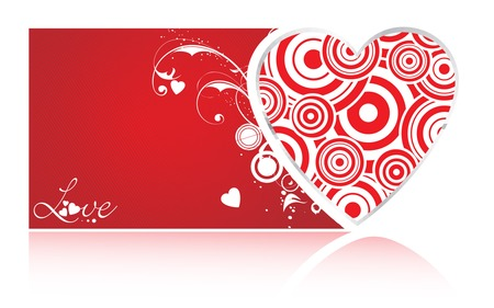 Valentine's Day Heart - swirl, red heart, swirls, love, valentines day, hearts, valentines, heart