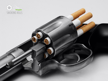 Smoking Kills - smoking, gun, peole, cg