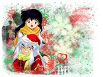 Inuyasha and Kagome - what a wonderful snow day!