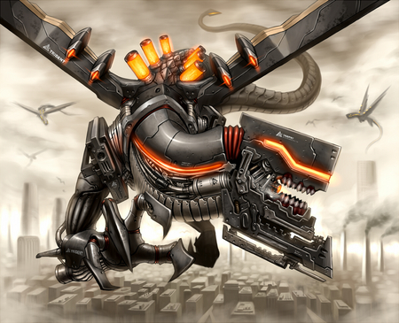 Mecha Dragon - cool, awesome, dragon, mecha
