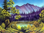 Hidden lake by Bob Ross