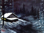 Winter night by Bob Ross