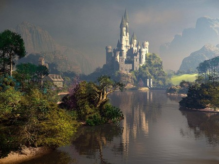 Magic Castle - castle, magic, river