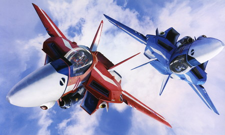 Air acrobatics Macross zero - vf 1, fighter, macross zero, macross, jenius, anime, fighter plane