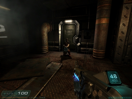 doom 3 resurrection of evils' zombies - plasma gun, hell, doom, zombie