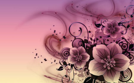 Beautiful abstract flower - 3D and CG & Abstract Background ...