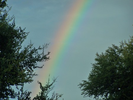 Somewhere over the rainbow - light, color, rainbow, sky