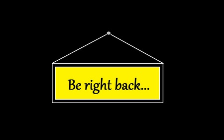 Be Right Back... - ja volto, funny, be right back, volto logo