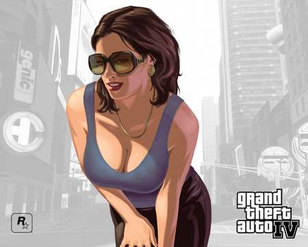 GTA 4 Girl - gta 4, girl, gta, grand theft auto 4