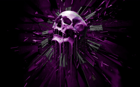 Purple Skull - Fantasy & Abstract Background Wallpapers on ...