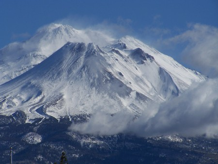 Mt Shasta - cold, big, snow, mountain, nature, beauitful, mt shasta, california