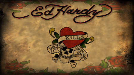 Ed Hardy - designer, ed hardy, fashion, love, skull, heart, death